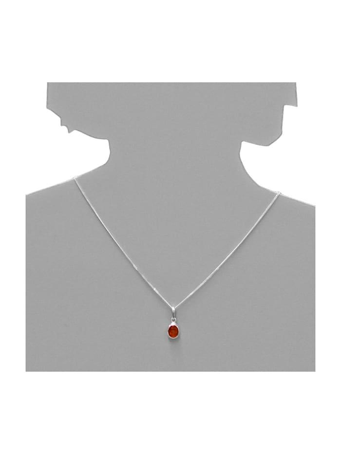 Anhänger - Olivia - Silber 925/000 - Bernstein