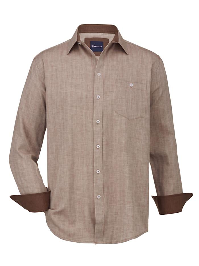 Babista Premium Overhemd met kasjmier, Beige