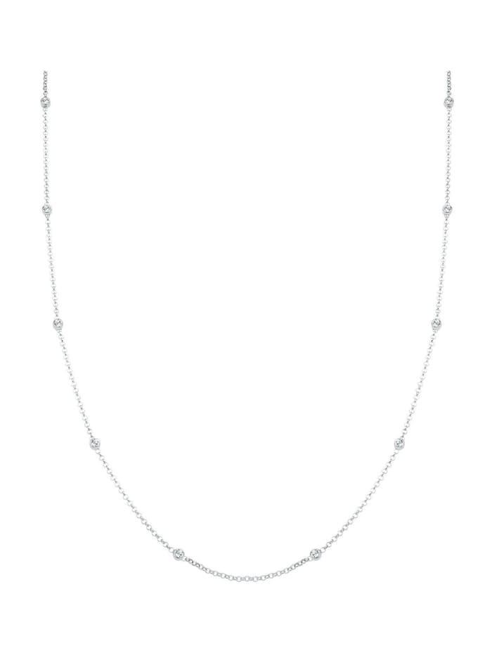 Halskette Solitär Basic Swarovski® Kristalle 925 Silber