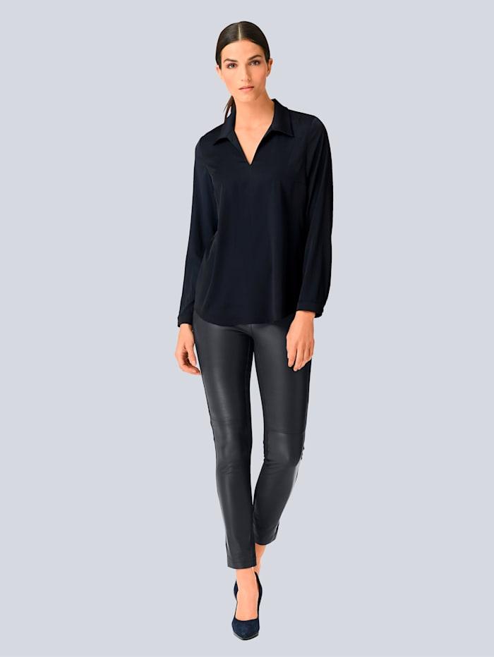 Alba Moda Lederhose aus super softer Qualität, Marineblau