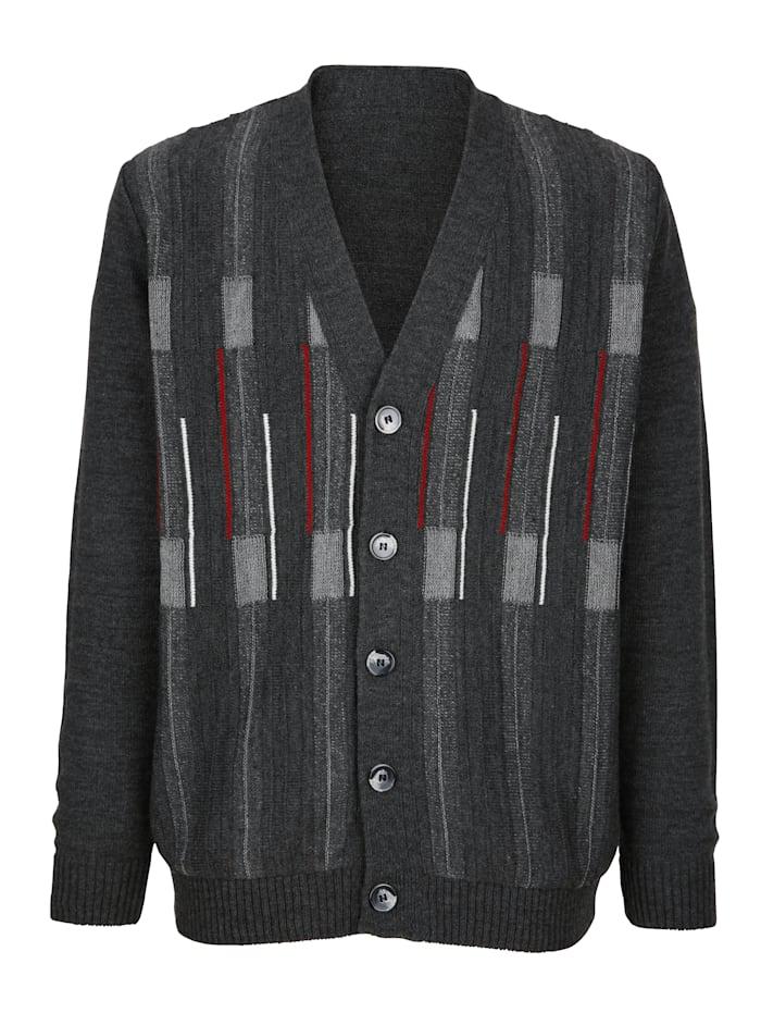 Vest met jacquarddessin voor