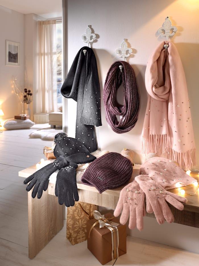 Handschoenen met sierkraaltjes