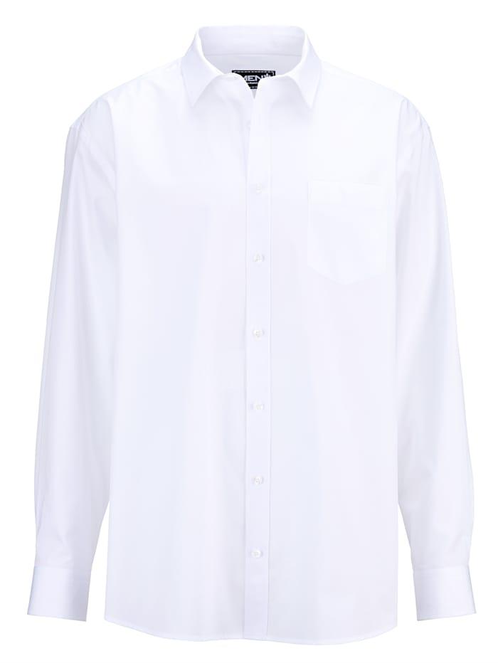 Men Plus Hemd aus reiner Baumwolle, Weiß