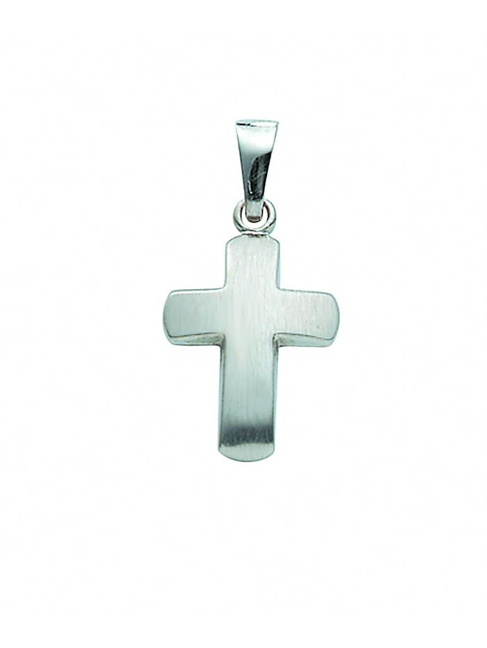 1001 Diamonds Damen & Herren Goldschmuck 333 Weißgold Kreuz Anhänger, silber