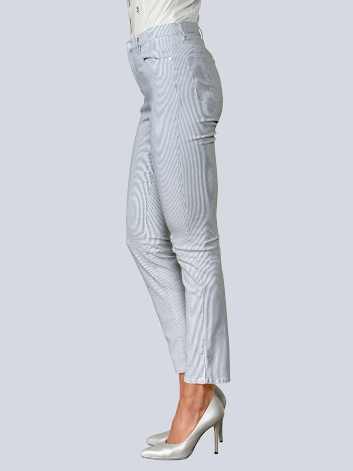 BRAX Jeans 'Mary' im Streifendessin, Hellblau
