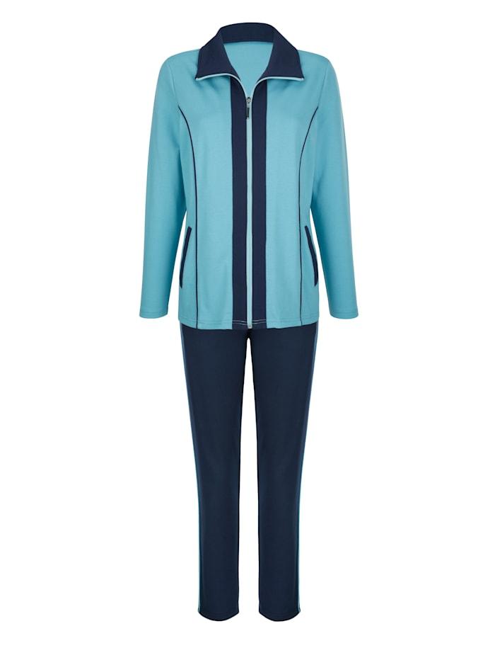 Harmony Sport. oblečení s kontrastním lemováním, Jadeit/Námořnická