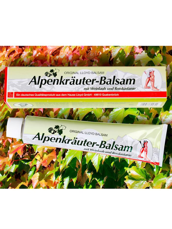 Alpenkruidenbalsem met rodedruivenbladeren en paardenkastanje