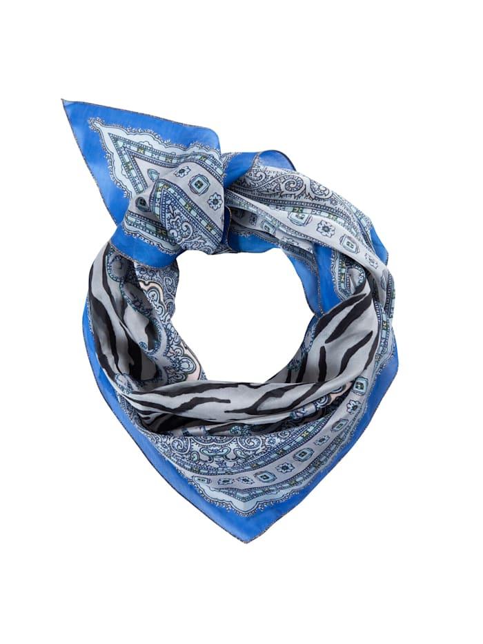 Codello Premium Tuch aus Baumwolle und Seide, royal blue