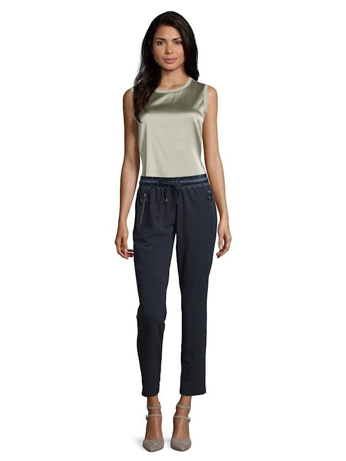 Betty Barclay Schlupfhose mit Reißverschlusstaschen, dunkelblau