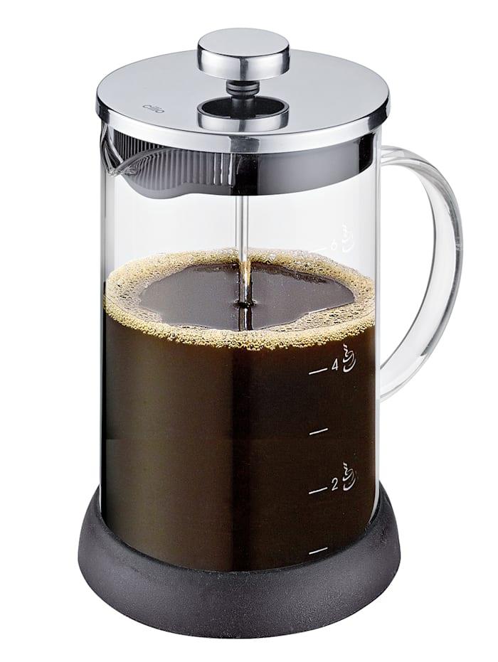 Cilio Kaffeebereiter 'Mila', silberfarben