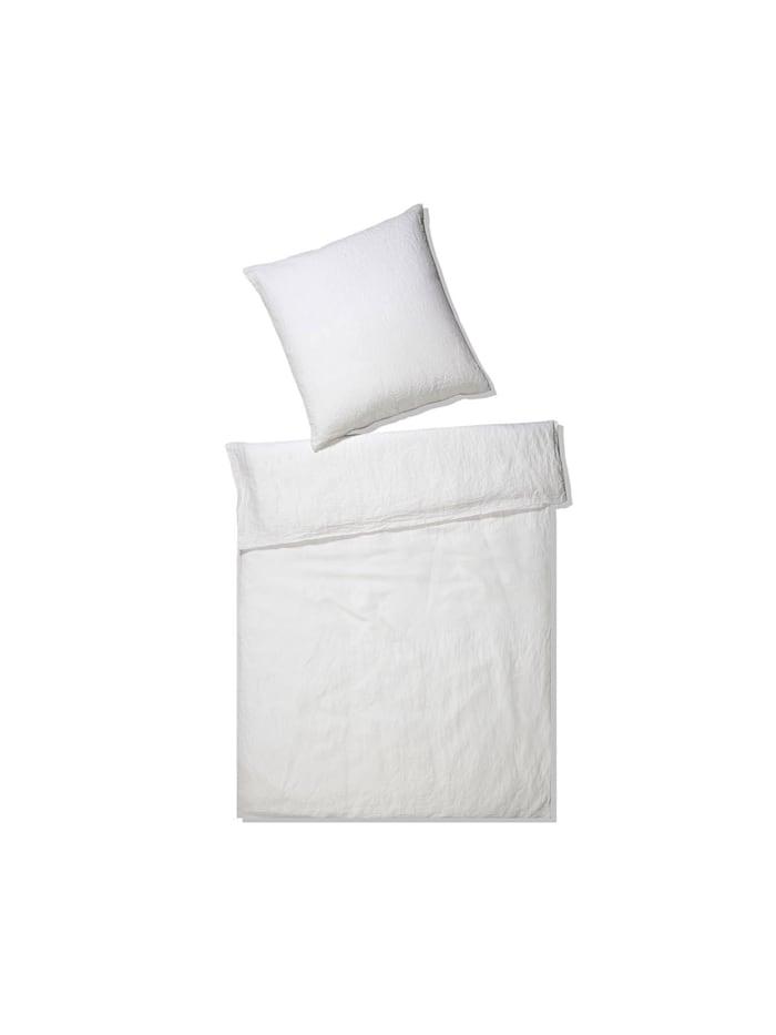 Elegante Leinen Bettwäsche Breeze weiss, weiß