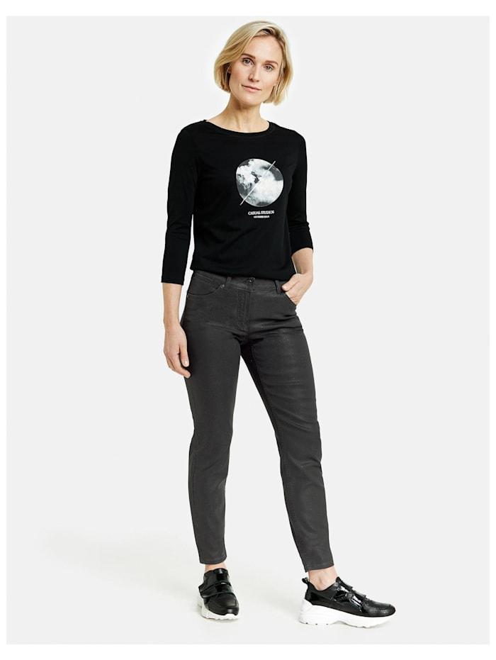 5-Pocket Hose mit Glitzer