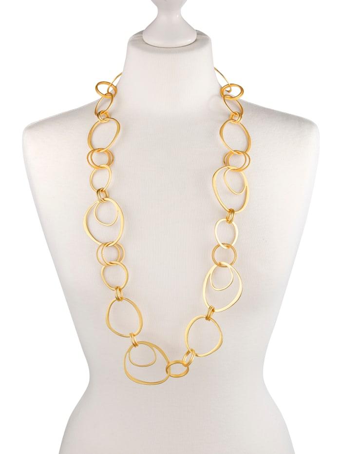 Halskette mit Elementen, Gelbgoldfarben