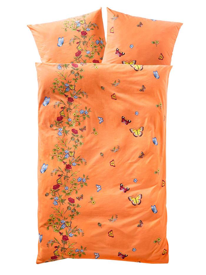 Webschatz Bäddserie med blommor och fjärilar, Terrakotta