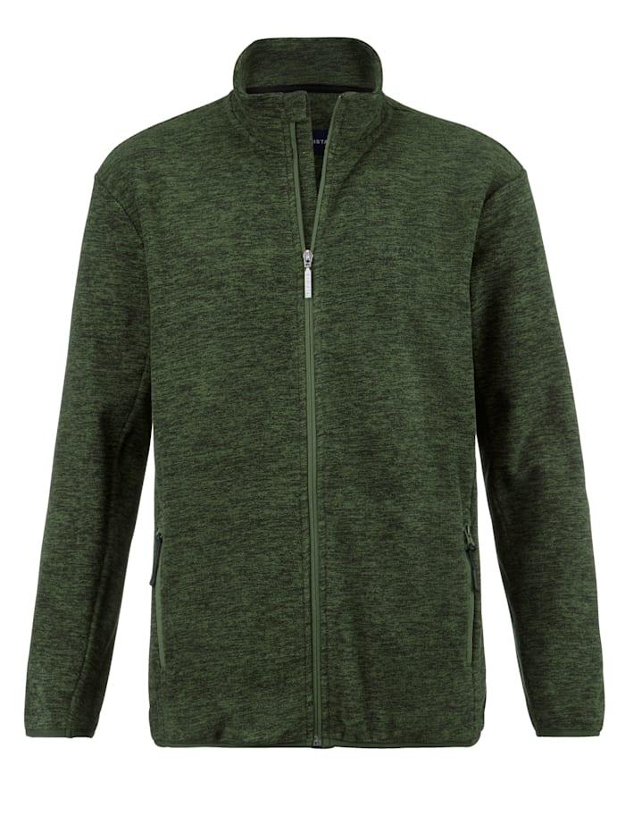 BABISTA Fleece vest in gemêleerde look, Groen