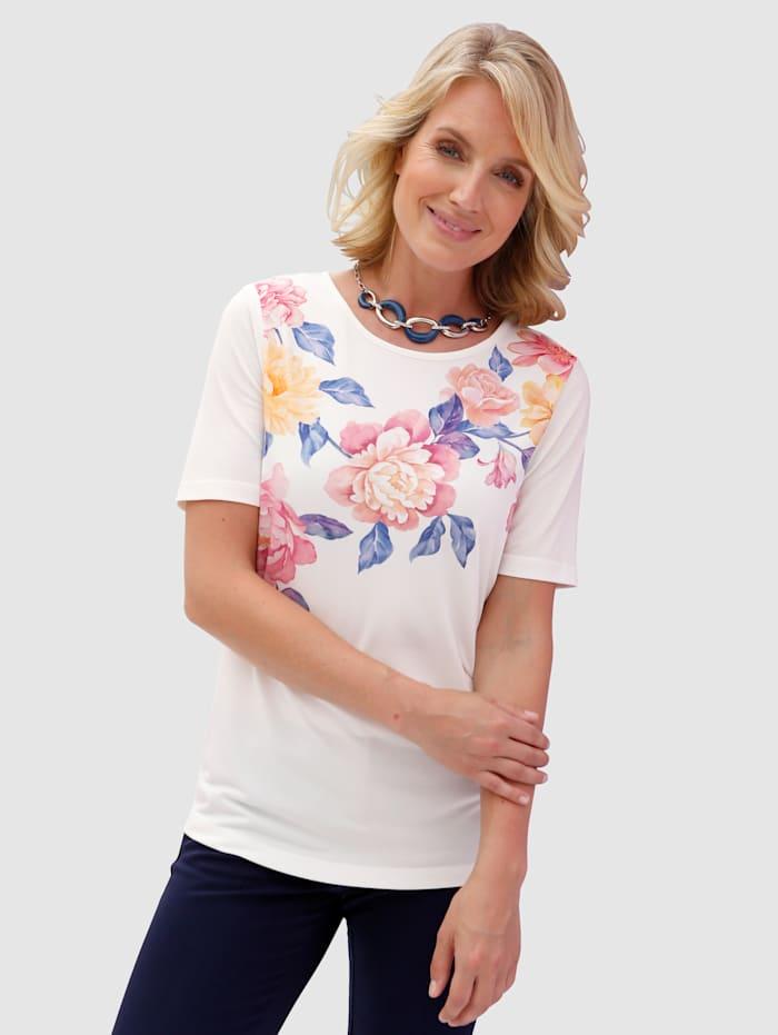 Paola T-shirt imprimé d'un motif floral, Blanc