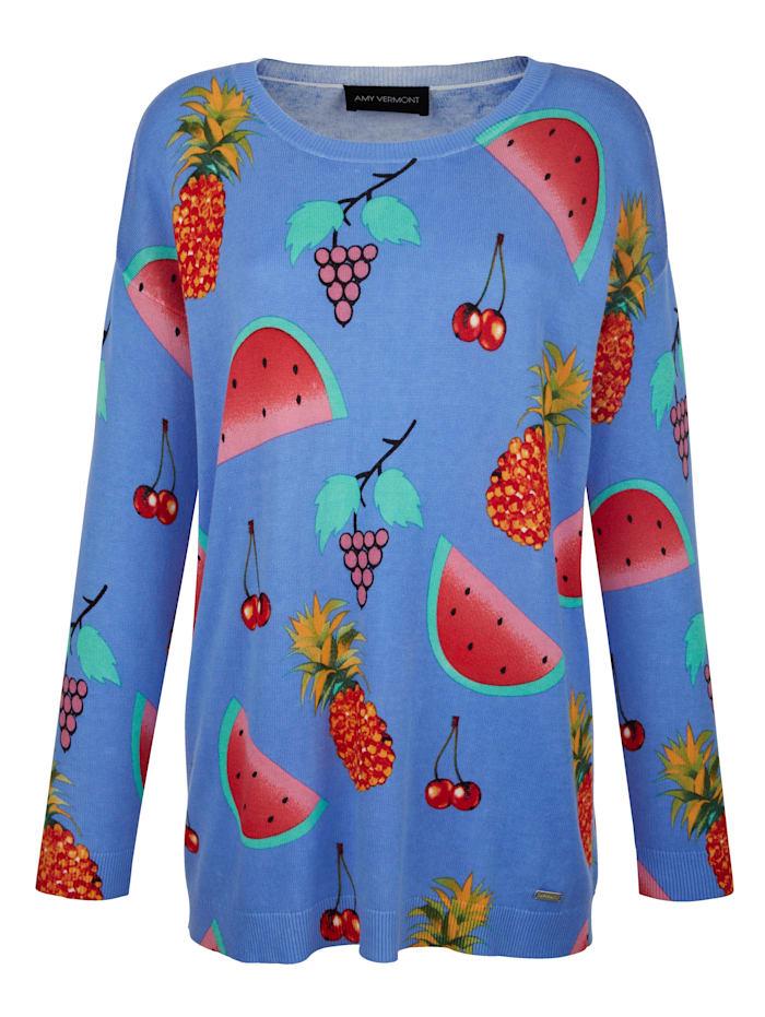 Pullover mit Frucht-Motiven