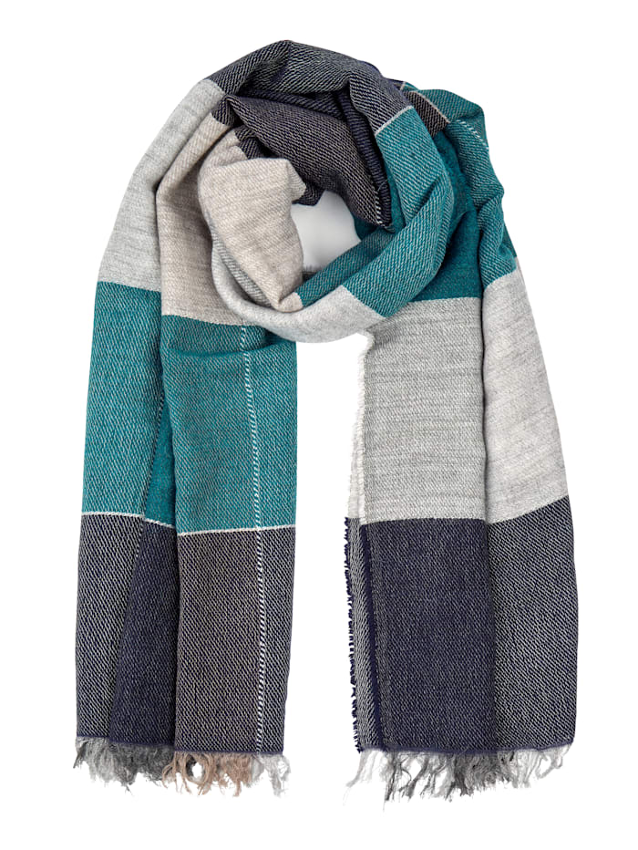 Alba Moda Scarf made from a soft fabric, Navy
