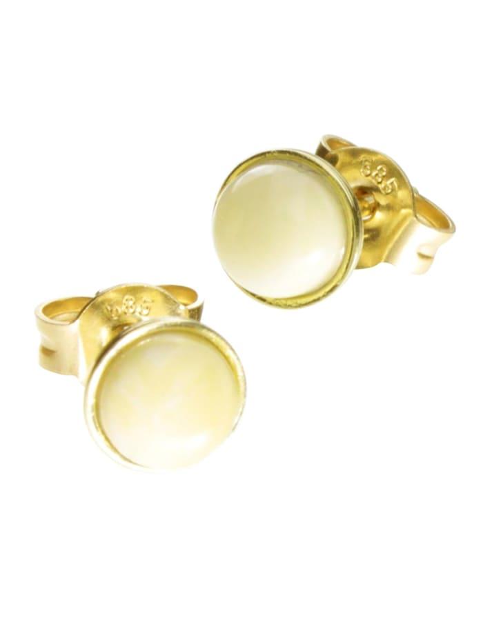 OSTSEE-SCHMUCK Ohrstecker - Classic 5 mm - Gold 585/000 - Bernstein, gold