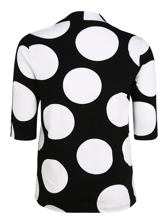 3/4-Arm-Shirt mit Punkten Bänder