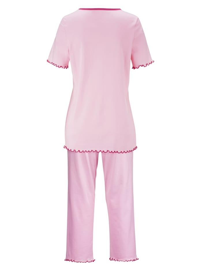 Pyjamas par lot de 2 à passepoil contrastant