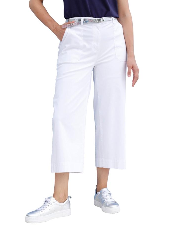 Džínsy-Culotte s kontrastným šitím