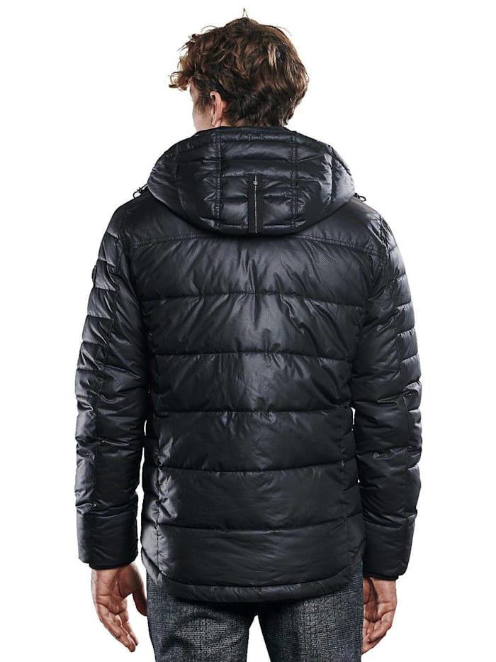Jacke mit perforierter Oberflächenstruktur