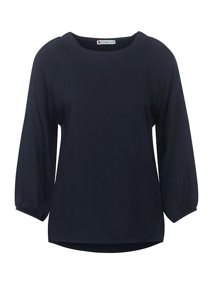Street One Shirt mit Raffungen, dark blue