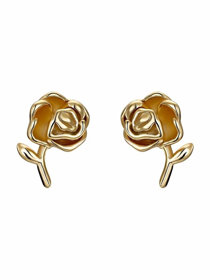 Noelani Ohrstecker für Damen, Sterling Silber 925 vergoldet, Rose, Gold