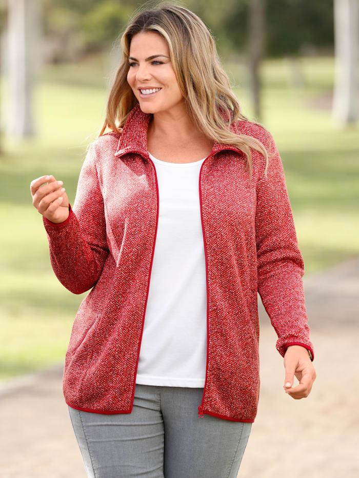 m. collection Fleece vest met zachte binnenkant, Koraal