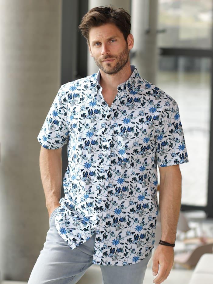 BABISTA Hemd mit trendigem Druckmuster, Weiß/Blau