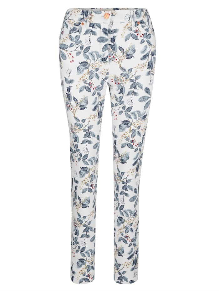 Jeans mit Floral-Druck