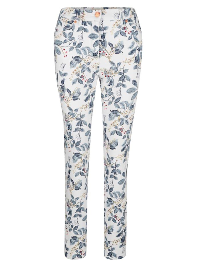 Jeans met bloemenprint