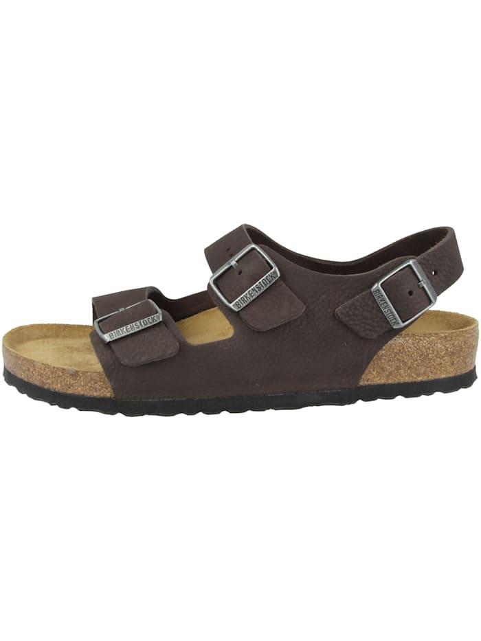 Birkenstock Sandale Milano SFB Nubukleder normal, braun