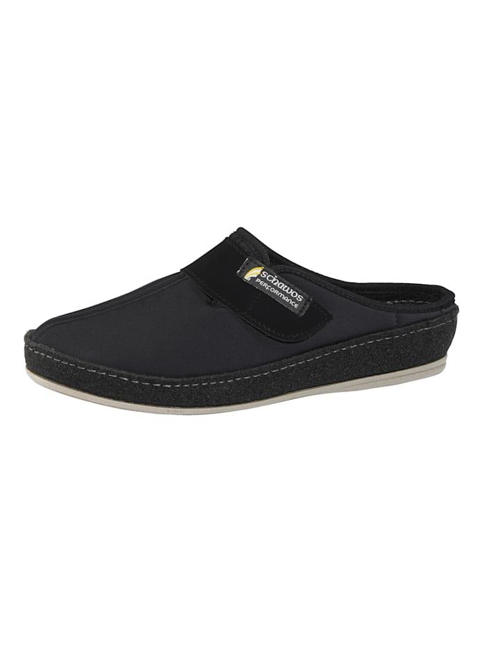 Schawos Pantofle zpružného textilního materiálu, Černá