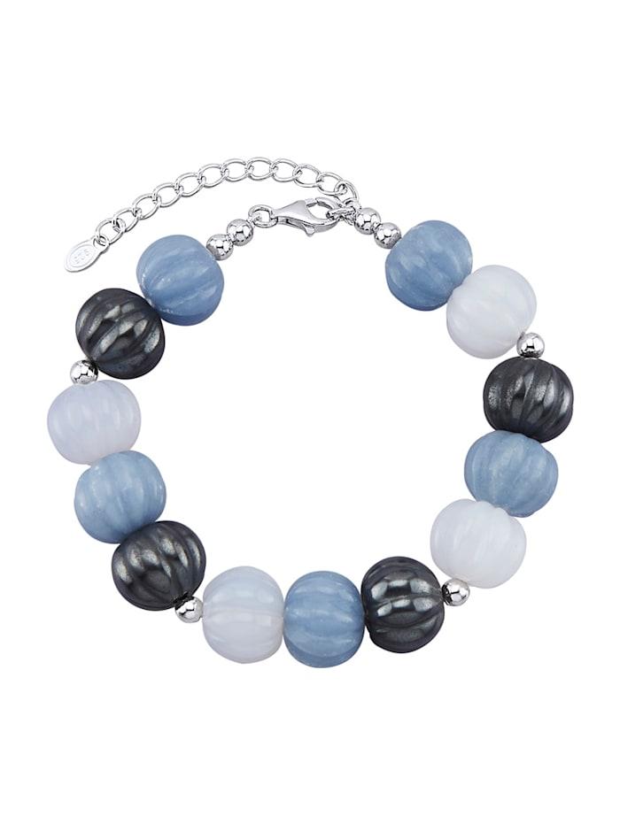 Bracelet avec pierres fantaisie de couleur, Bleu
