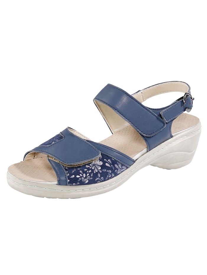 Naturläufer Sandale mit stufenlos verstellbaren Klettverschlüssen, Blau
