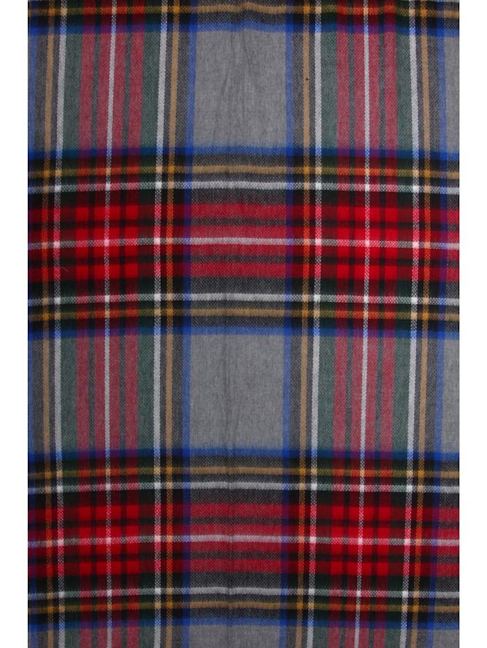 Italienischer Schal Torino mit modernem Karo, Made in Italy