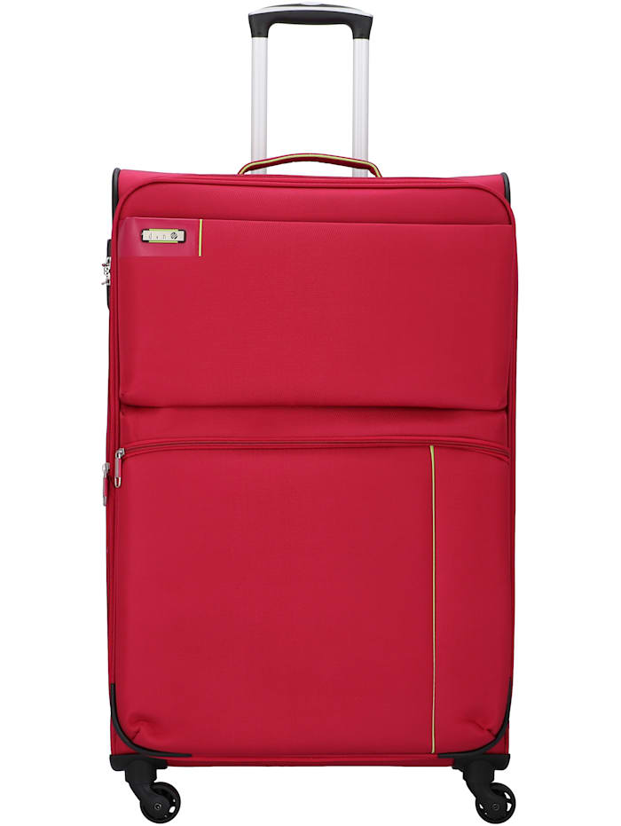 D&N Travel Line 6704 4-Rollen Trolley 75 cm, pink