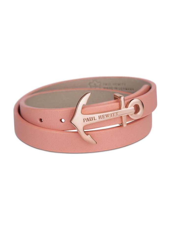 Paul Hewitt Paul Hewitt Damen-Armband Leder/Edelstahl, rosa