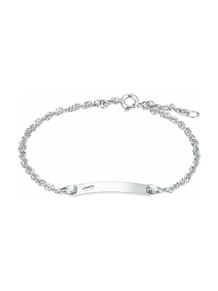 amor Identarmband für Damen, Sterling Silber 925, Silber