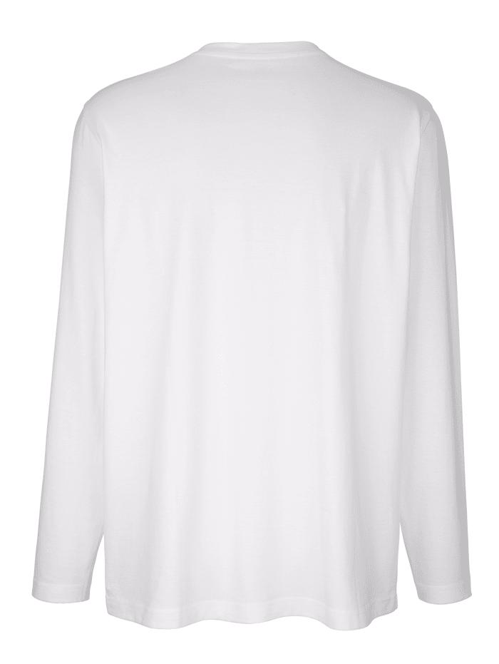 Langarmshirt mit Knopfleiste