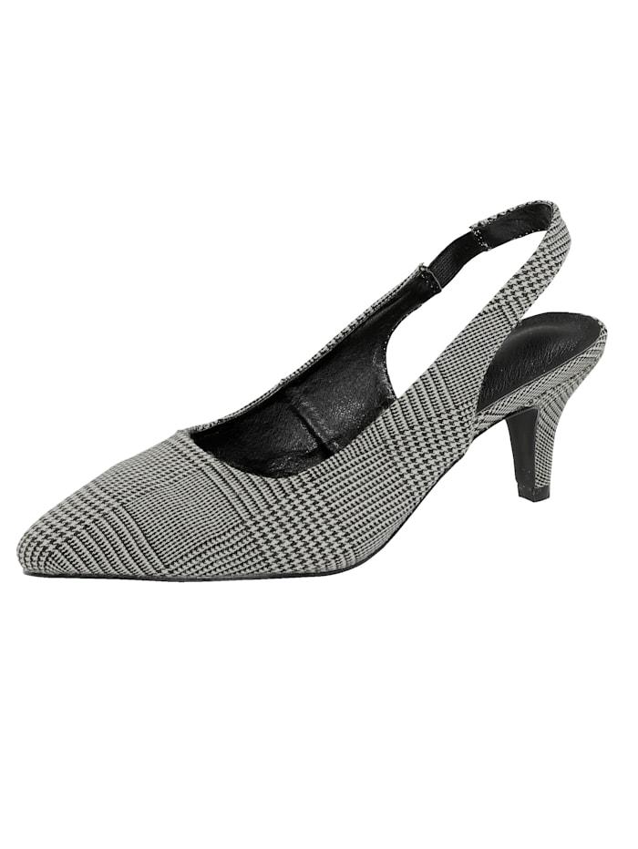Liva Loop Sling obuv s Glencheck-vzorom, Šedá