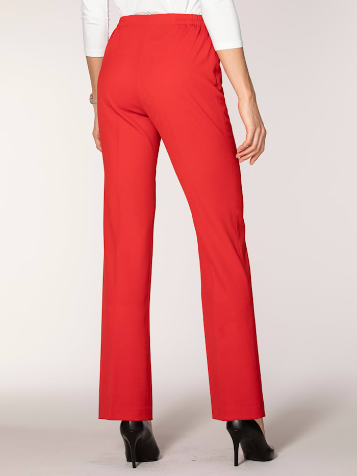 Pull-on trousers made from an Italian wool blend