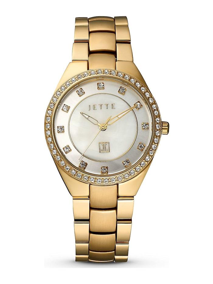 JETTE Times JETTE Time Damen-Uhren Analog Quarz, gold