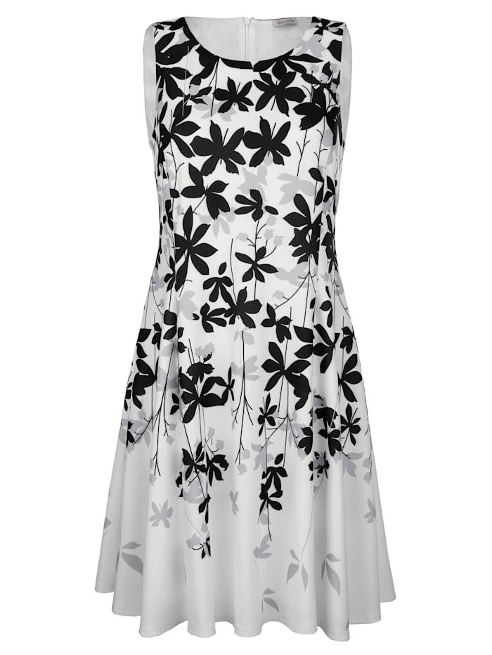 Alba Moda Jurk met bloemenprint, Offwhite/Grijs/Zwart