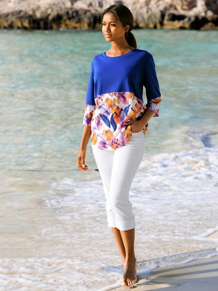 Strandshirt im Materialmix