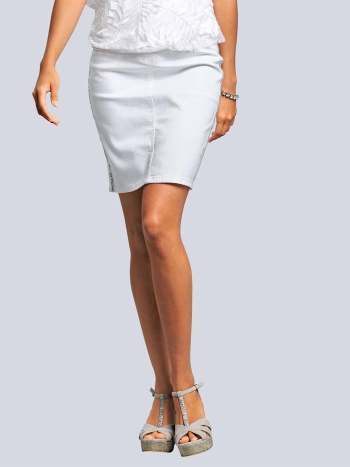 Alba Moda Rock mit funkelnden Pailletten, Weiß