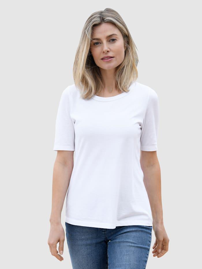 basically you Shirt aus reiner Baumwolle, Weiß