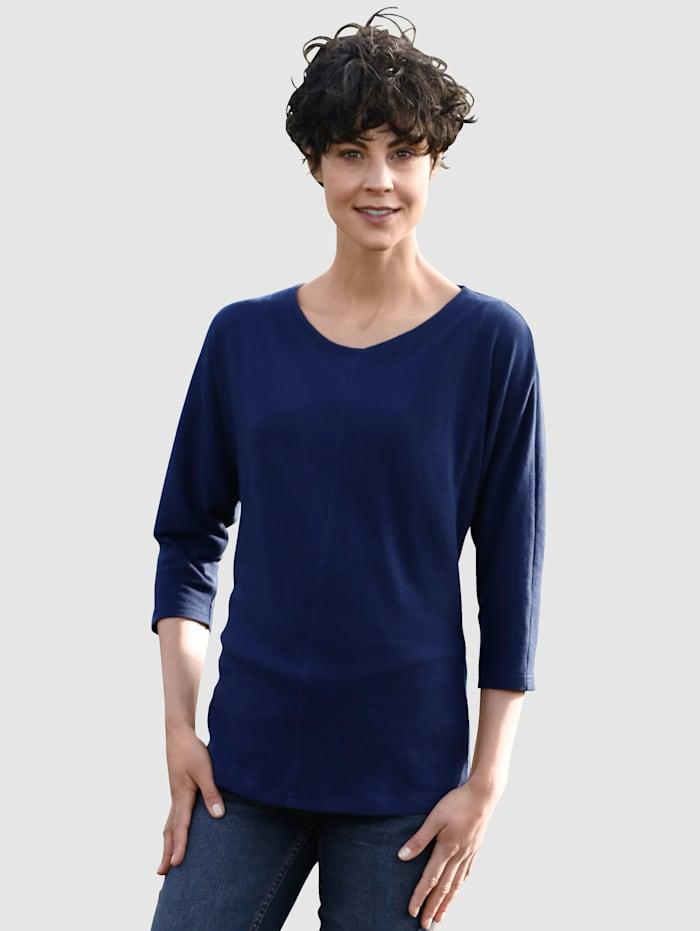 Dress In Shirt mit schöner Teilungsnaht, Marineblau